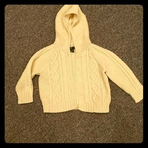 Knit Sweater with hoodie for 12-18 months kids.